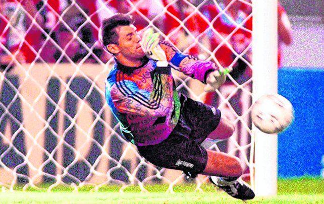 Copa América 1993. Al igual que en el mundial de Italia 1990, Sergio Goycochea se vistió de héroe en los penales con Colombia.