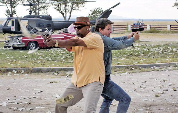 Dos tipos audaces. Denzel Washington y Mark Wahlberg como dos agentes abandonados por sus organizaciones.