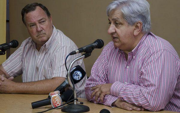 Reclamos. Julio Piumato estuvo en la sede de la CGT Santa Fe.