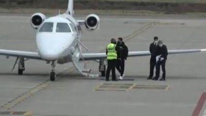 Messi viajó a Capital Federal.