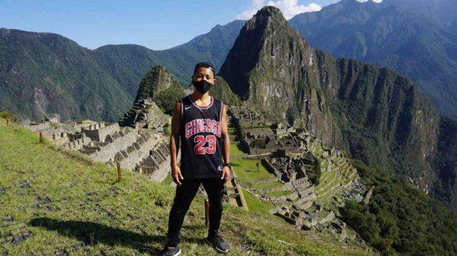 Jesse Takayama esperó siete meses pero logró cumplir su sueño de conocer Machu Picchu.