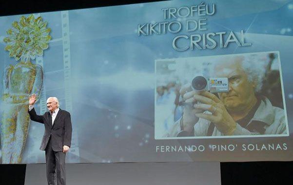 Argentino ovacionado en Brasil. Pino Solanas recibió el premio a la trayectoria en el Festival de Gramado.