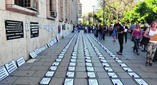 ni una menos. Una de las tantas manifestaciones contra la violencia de género.