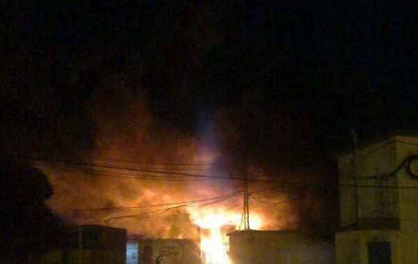 Por efecto de las llamas se registraron pérdidas totales en el sector donde se produjo el siniestro. (Foto gentileza Twitter @AiredeSantaFe)