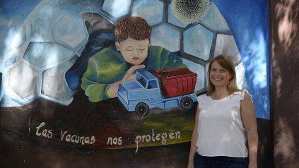 Pérez dirige el Idicer, el año pasado el organismo llenó los paredones de la facultad de Ciencias Médicas de murales que cuentan la historia de las vacunas