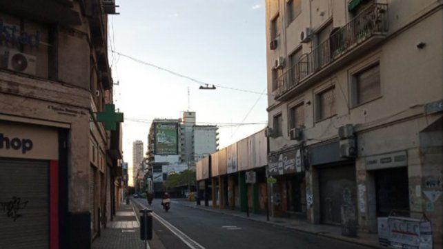 La mañana rosarina arrancó sin movimiento en as calles por el feriado y con una agradable temperatura.
