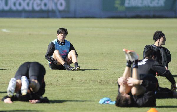 Preparándose. El Piojo Manso firmó el contrato la semana pasada y rápidamente se puso a disposición del cuerpo técnico encabezado por Alfredo Jesús Berti.