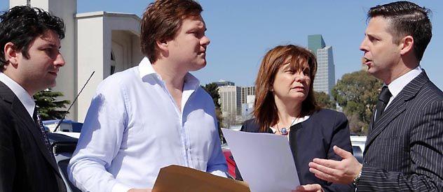 Los legisladores Arenaza y Bullrich llevaron el caso a Tribunales.