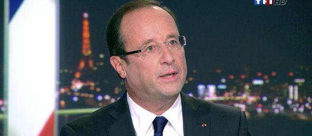 François Hollande habló al país por medio de una entrevista al noticiero de mayor audiencia. El crecimiento de la economía es casi cero