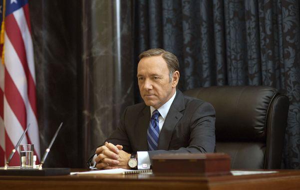 de cera. El personaje de Kevin Spacey compite con los presidentes reales.