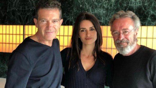 """Martínez está en España filmando """"Competencia oficial"""" junto a Antonio Banderas y Penélope Cruz."""