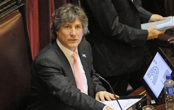 Marcado. La oposición le achaca al oficialismo que la presencia de Boudou está paralizando el Senado.