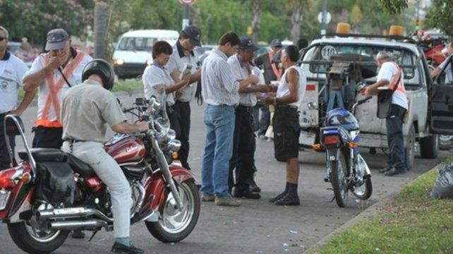 Rigurosidad. Cada fin de semana se realizan controles de tránsito en los sectores más concurridos de la ciudad.