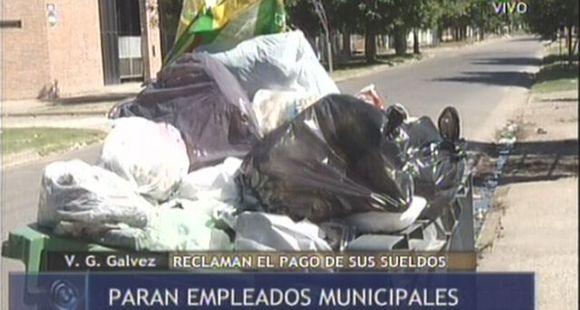 Los municipales de Villa G. Gálvez van al paro por falta de pago de salarios