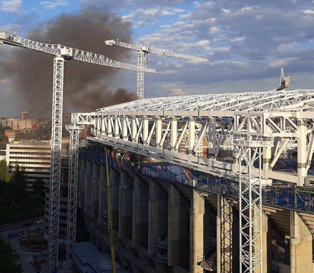 Real Madrid: se prendió fuego el estadio Santiago Bernabeu