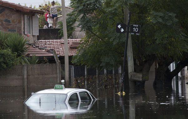 Penoso. El barrio Tolosa fue uno de los más afectados en La Plata