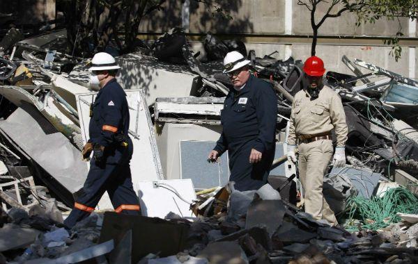 Desolador. El sector del edificio donde fueron detectados más cuerpos.