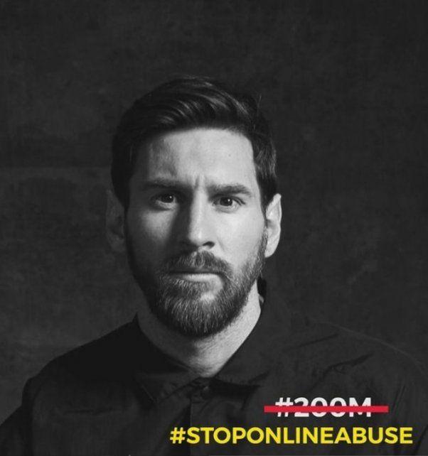 Lionel Messi realizó un profundo poesto en contra de la discriminación y el abuso en las redes sociales.