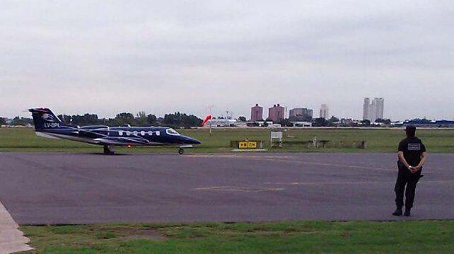 El avión. La aeronave que pertenecía a Lázaro Báez será entregada a la Policía Federal.