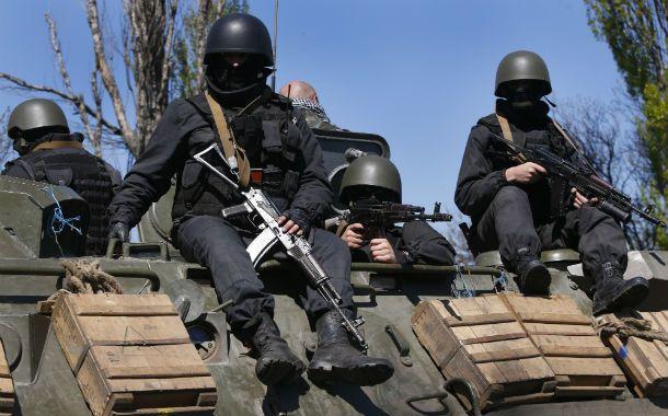 En operaciones. Tropas especiales ucranianas en los alredores de Slavyansk
