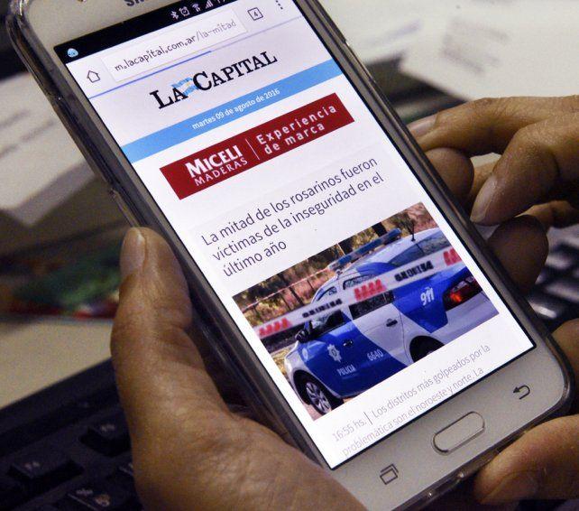 Renovado. La nueva versión mobile del sitio permite un acceso claro y dinámico desde los smartphones.