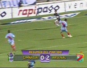 Arsenal le ganó 2 a 0 a Gimnasia y todo quedó igual en la tabla de abajo