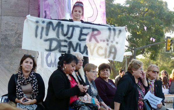 Reclamo. Hace un mes hubo una gran marcha contra la violencia de género.