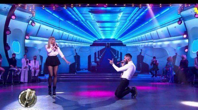 Charlotte Caniggia intentó cantar un tema de Britney Spears.