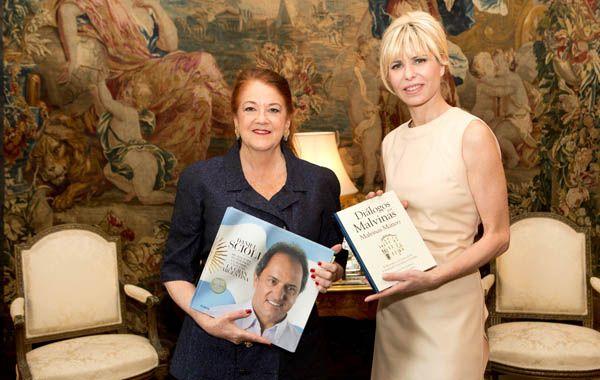 Karina Rabolini junto a la Embajadora Argentina en el Reino unido