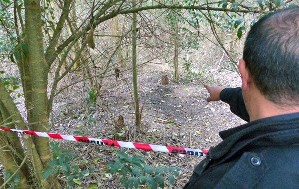 En Andino. Los restos de Serra aparecieron el 23 de junio pasado en un descampado ubicado a 200 metros del río Carcarañá.