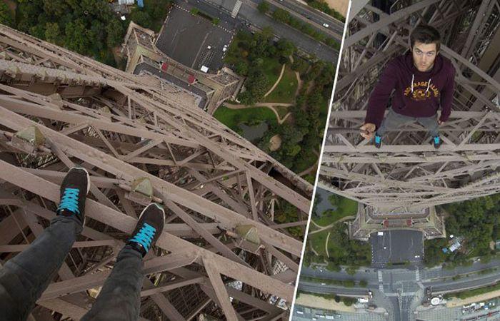 James Kingston ha vuelto a desafiar a la gravedad y a los dispositivos de seguridad y ha conseguido escalar la Torre Eiffel