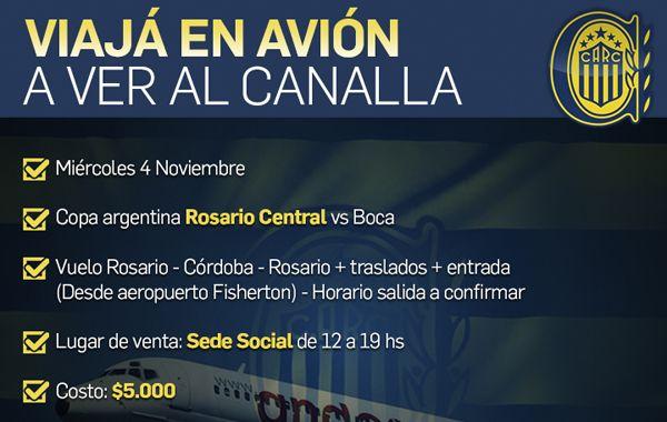Central pone un chárter para viajar a ver la final de la Copa Argentina