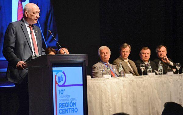 """Bonfatti consderó que la Región Centro es """"un polo fundamental para el desarrollo nacional""""."""