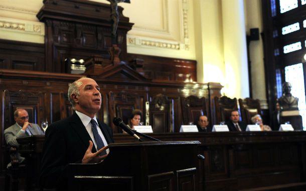 El ministro de la Corte puso énfasis en la lucha contra el delito organizado.
