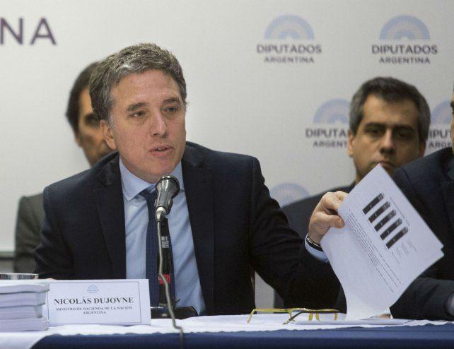 Proyecciones. Dujovne presentó el proyecto gastos para el año próximo en la comisión de Presupuesto.