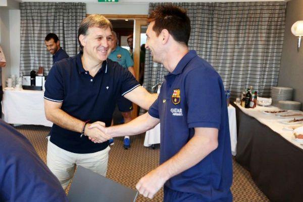 Martino y Messi estuvieron juntos en Barcelona
