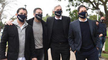 Conducción canalla. Gordillo, Kily, Carloni y Di Pollina. En ellos recaen las negociaciones de Central por los refuerzos.