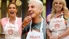 Analía Franchín, El Polaco y Claudia Villafañe protagonizaron una gala de definciiones en MasterChef Celebrity.