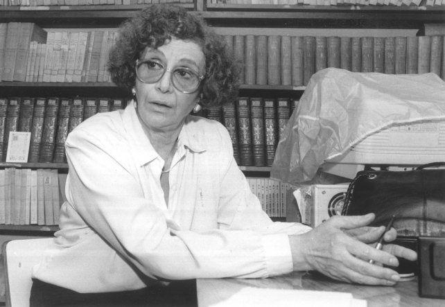 La profesora Habichayn en una nota publicada por La Capital en octubre de 1996.