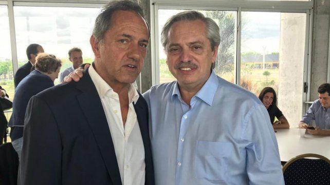 Scioli, un invitado impensado en la comitiva de Alberto Fernández