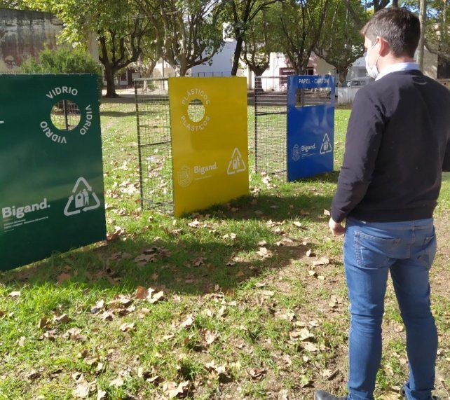 Los puntos de reciclaje están identificados con diferentes colores.