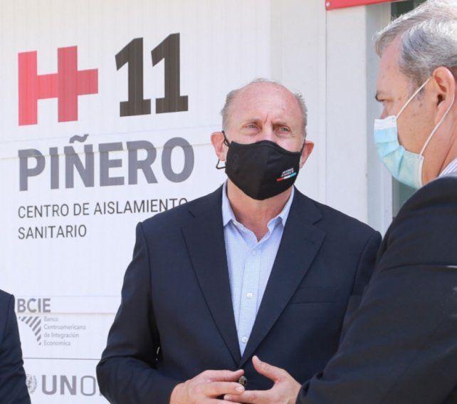 Omar Perotti. El gobernador de Santa Fe participó de la inauguración del hospital en la Unidad Nº 11 de Piñero.