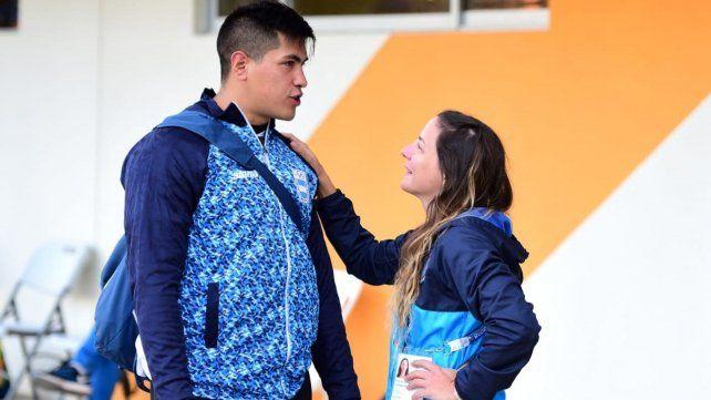 Braian Toledo y la kinesióloga rosarina Romina González. Un vínculo profesional que se transformó en una gran amistad.