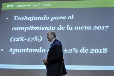 Duro. El presidente del Banco Central busca que baje la inflación.