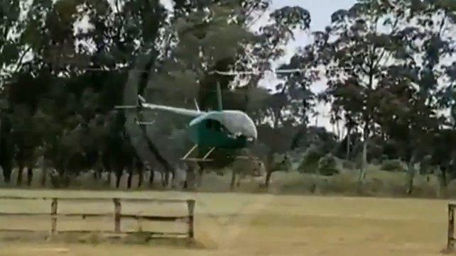 Apareció un nuevo video del helicóptero que tiró el cordero