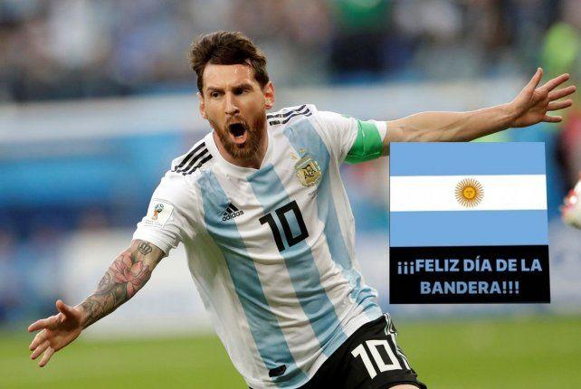 Lionel Messi hizo honor a la capitanía en la selección y a su condición de rosarino