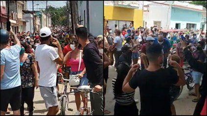 Imágenes tomadas por manifestantes de la histórica jornada de protestas del domingo 11 de julio.