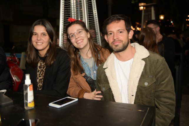 Lucila Gloriani, Valentina Racciatti y Juan Cruz Casas