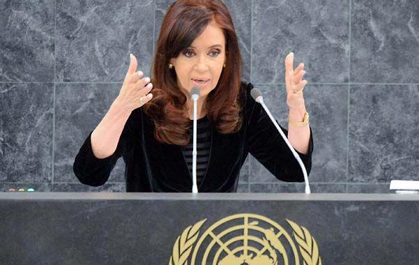 Cristina utilizará el auditorio de la ONU para defender la reestructuración de la deuda.