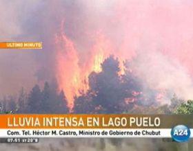 Lago Puelo: das Neves aseguró que las intensas lluvias lograron controlar el incendio forestal